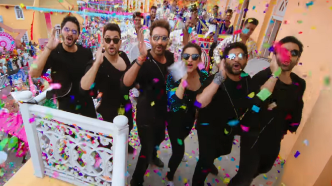 'Golmaal Again' title track is full of cars, action and stars
