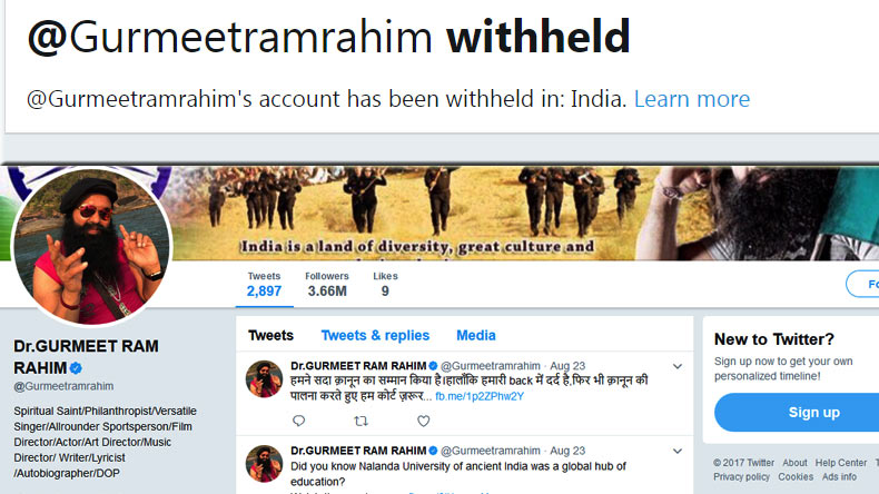 Days after arrest, Rahim Singh's twitter account withheld in India