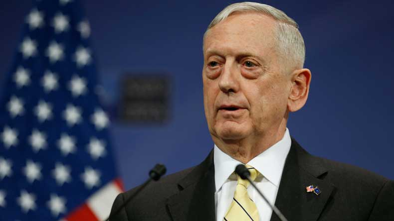 Mattis warns N Korea of 'massive military response'