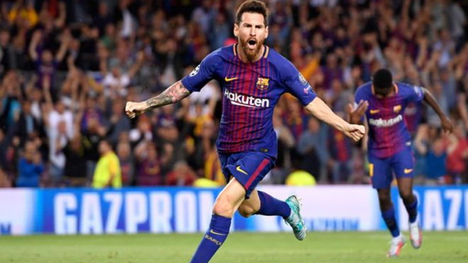 Messi scores 4 in Barca's 6-1 win against Eibar