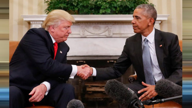 Barack Obama's letter to Donald Trump on Inauguration Day made public