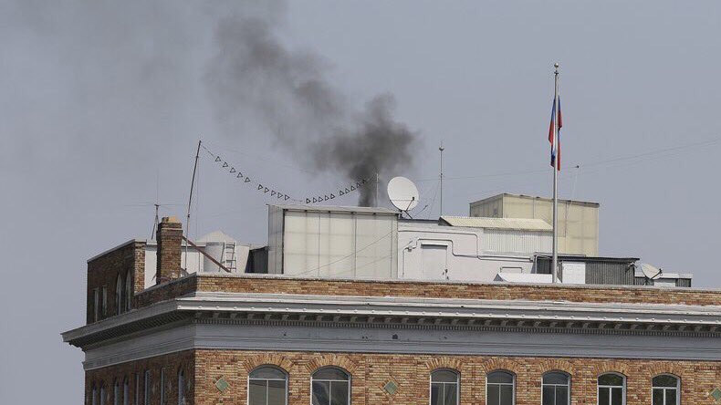 Smoke at Russian consulate in San Francisco hours before closure