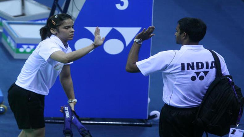Saina Nehwal returns to Gopichand Academy