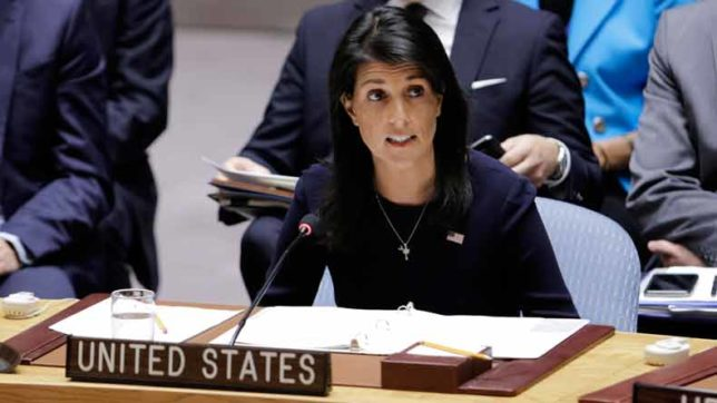 US calls for UNSC meet over North Korea draft resolution