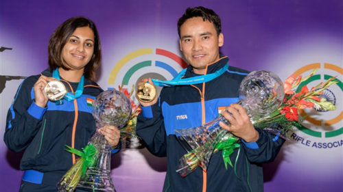 ISSF-World-Cup-Jitu-Rai-and-Heena-Sidhu-clinch-gold-in-10m-Air-Pistol-Mixed-Team-Event