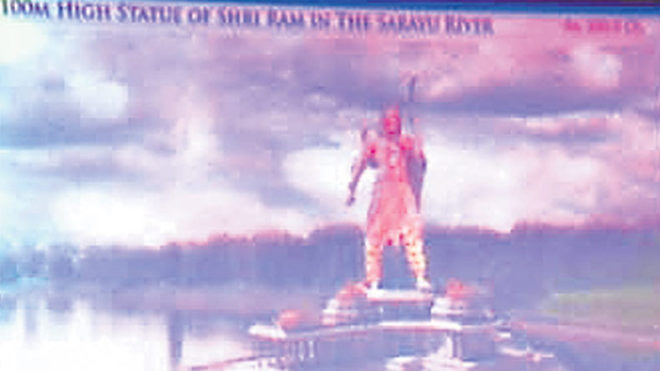 A statue of Lord Rama, courtesy the Yogi govt