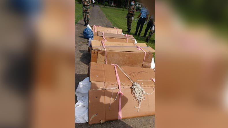 Outrage over soldiers' bodies in cartons