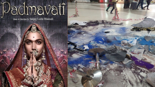 Watch: Rangoli created for Padmavati promotions destroyed by Rajput Karni Sena; Deepika demands action