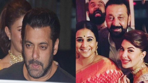 Salman Khan, Aamir Khan and other Bollywood stars celebrate together at Sanjay Dutt's grand Diwali party