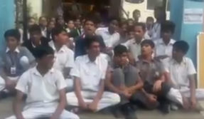 Hyderabad: School students protest against long hours that take a toll on their sleep