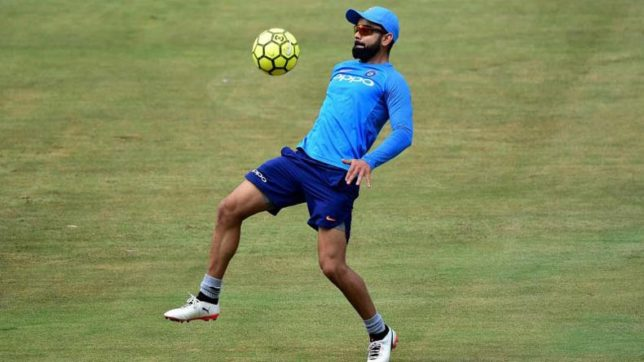 Indian cricketer Virat Kohli and his love affair with football