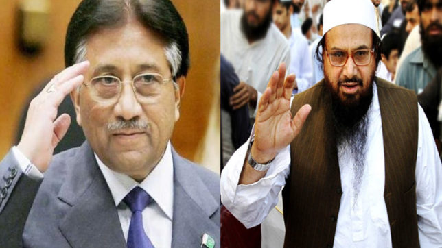 Image result for pervez musharraf and hafiz saeed