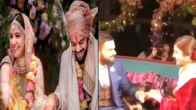 Watch: Inside the grand jaimala, ring ceremony of the newly weds Virat Kohli, Anushka Sharma