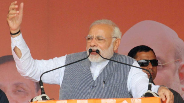 PM Narendra Modi sticks in the Gujarat rut; drags poll campaign to its nadir: Shiv Sena