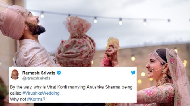 Virat Kohli-Anushka Sharma marriage: Some of the funniest tweets about the grand affair