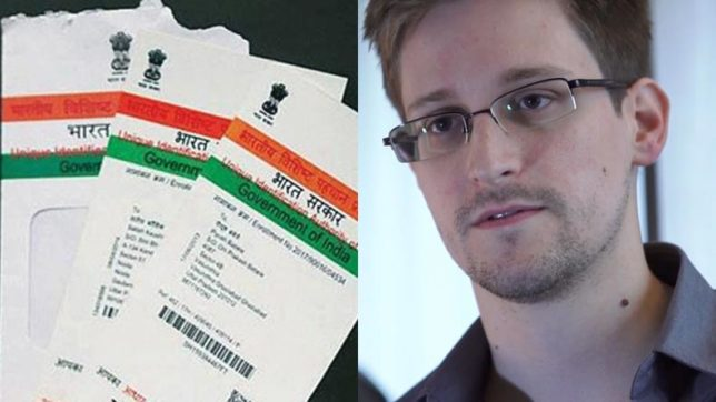 Here's what Edward Snowden had to say about India's Aadhaar programme