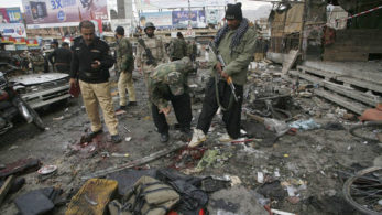 On February 13, at least 14 people, including senior police officers, were killed when a suicide bomber detonated himself near Lahore's Charing Cross | Photo: Pictorial Representation