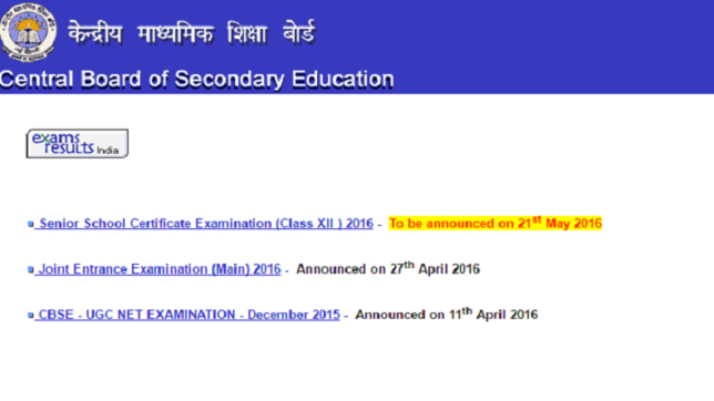CBSE 12th result 2016 to be declared today @ 12 pm - NewsX