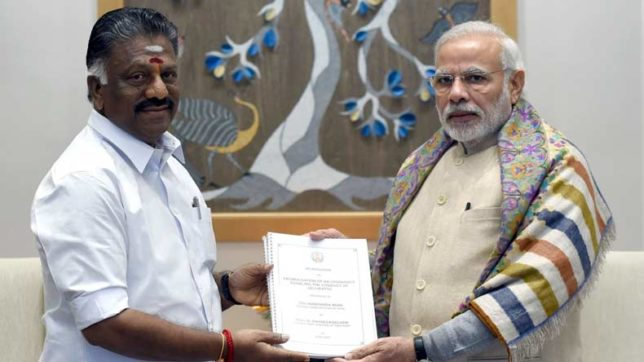 .Panneerselvam thanks PM Modi for support, cooperation