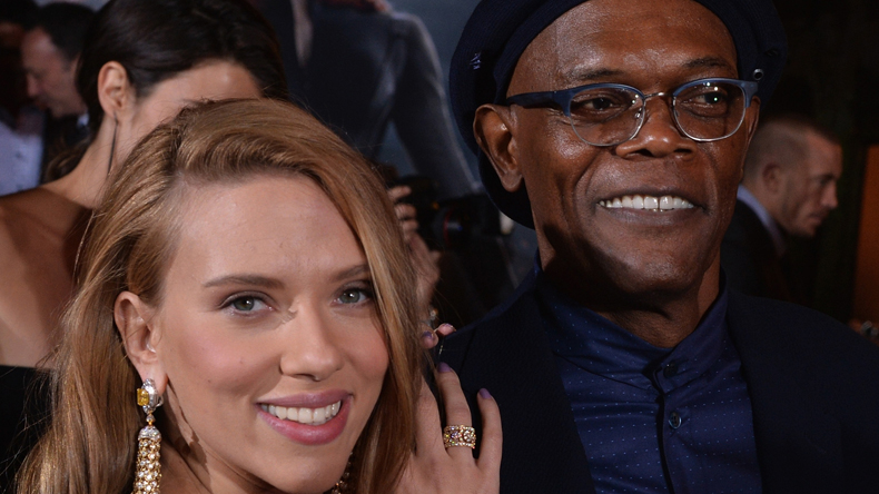 Scarlett Johansson, Samuel L Jackson, Los Angeles, USA, Hollywood actor, Hollywood actress, actress, Avengers, Oscars 2017, Academy Awards