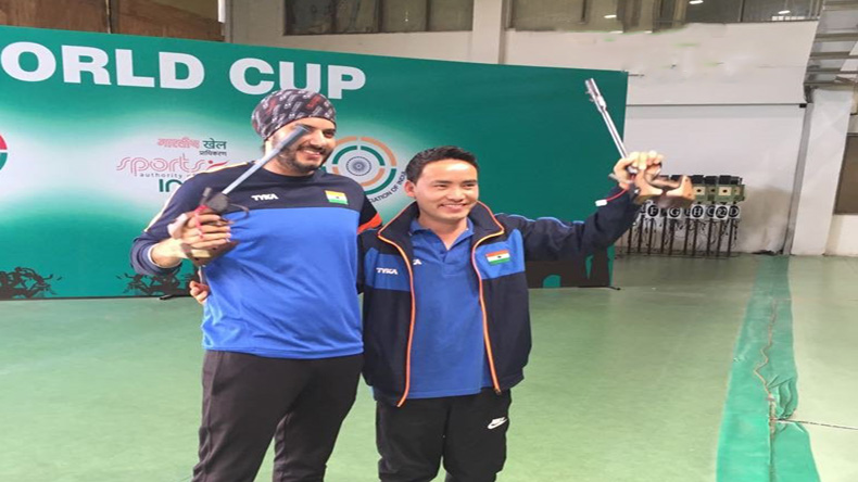 Jitu Rai, ISSF world cup, shooting world cup, New Delhi, Hina Sidhu, Jitu Rai wins World Cup gold, Hina Sidhu, ISSF Shooting World Cup, Amanpreet Singh