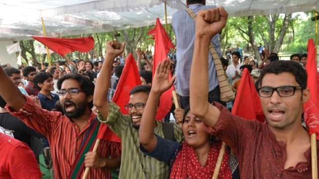 AISA members accuses ABVP of assault on DU campus