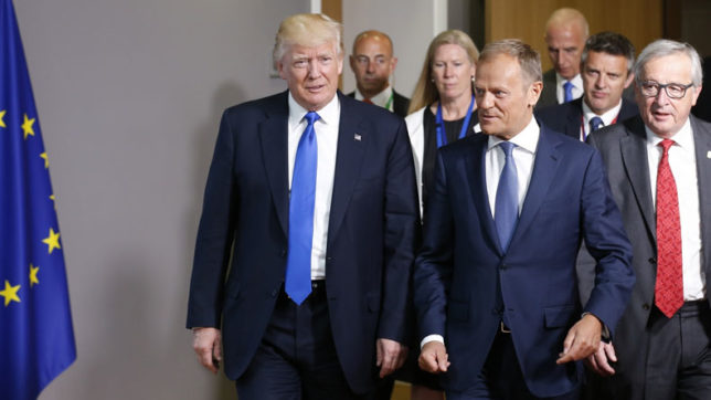 Donald Trump calls on NATO members to tackle terror, immigration