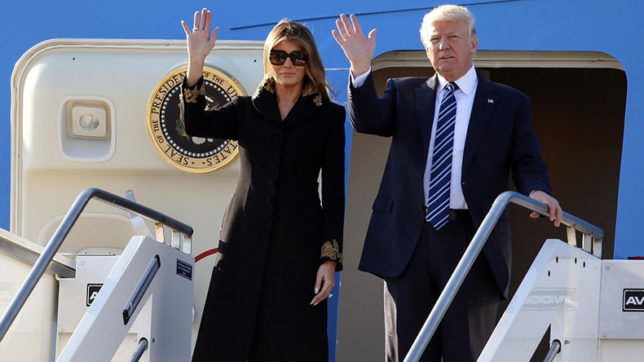 Melania continues to swat Donald Trump's hand