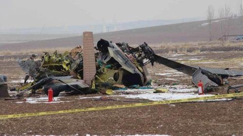 At least 13 Turkish military personnel killed in helicopter crash