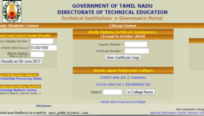 intradote.tn.nic.in , Tamil Nadu TNDTE diploma result 2017 to be declared today