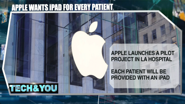 Tech and You: Apple wants iPad for every patient; Japan provides glimpses of space camera drone & more