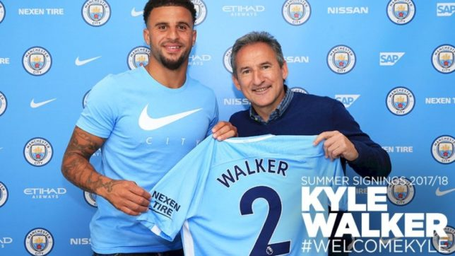 Manchester City sign Kyle Walker making him the most expensive defender of all time