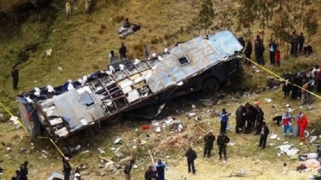 Eight killed in Peru bus accident