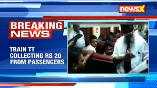Train ticket collector tries to con passengers over GST; eats humble pie