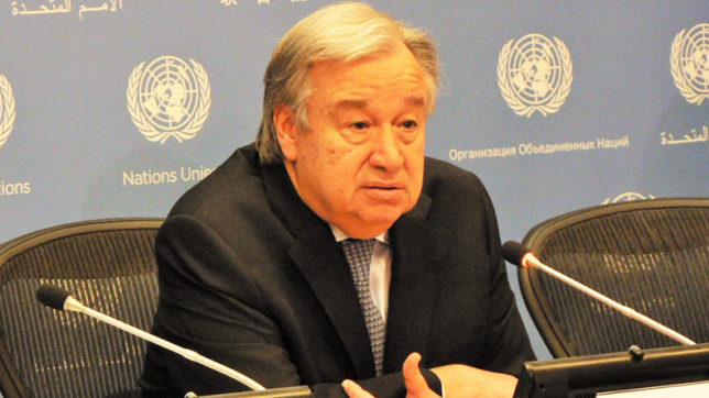 UN chief Antonio Guterres condemns missile launch by North Korea