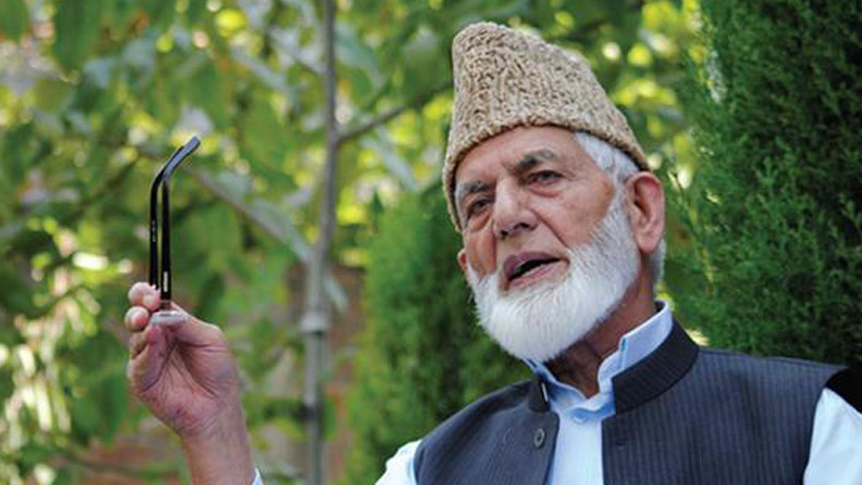 Hurriyat leader Geelani admitted to hospital due to abdominal pain