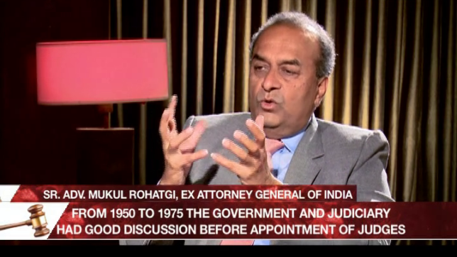 Legally Speaking: Nowhere in the world do judges appoint judges: Ex-Attorney General Mukul Rohatgi