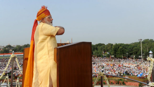 PM Modi invokes Hindu gods in Independence Day speech