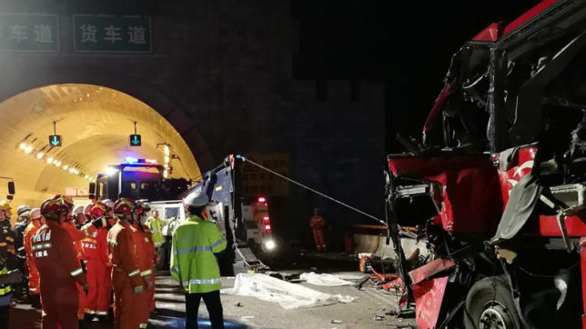 China: At least 36 dead, 13 injured in road accident