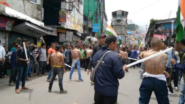 Darjeeling: Activists of the Yuva Morcha - the youth wing of the GJM  a