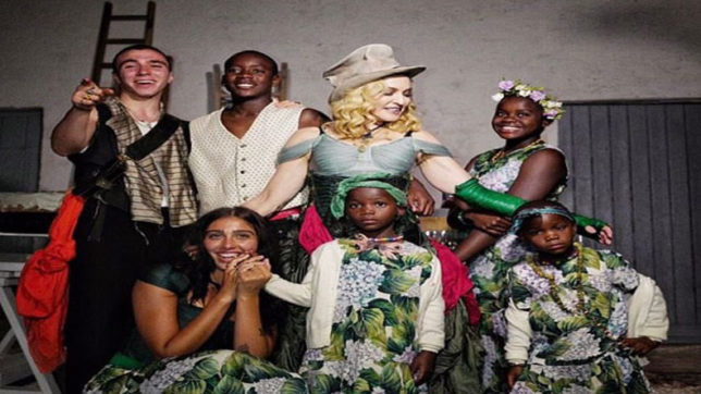Madonna shares first family portrait with her six kids