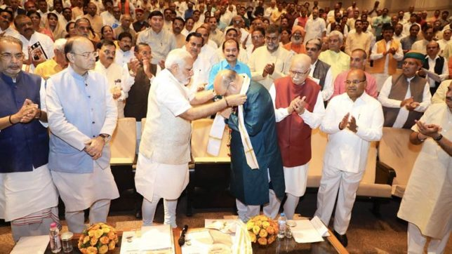 Amit Shah has brought back the work culture of Jan Sangh, says PM Modi