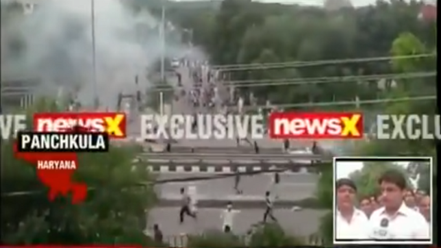 Large-scale violence in Panchkula after Dera chief  Ram Rahim's verdict