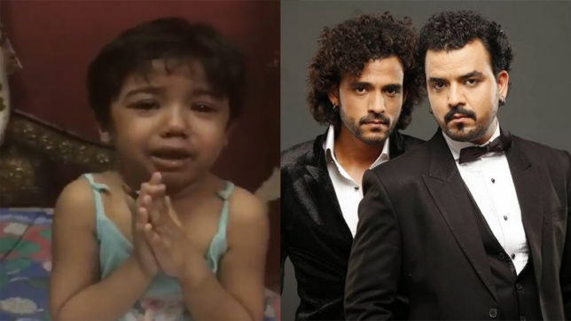 The crying child in the viral video is the niece of singer Sharib and Toshi