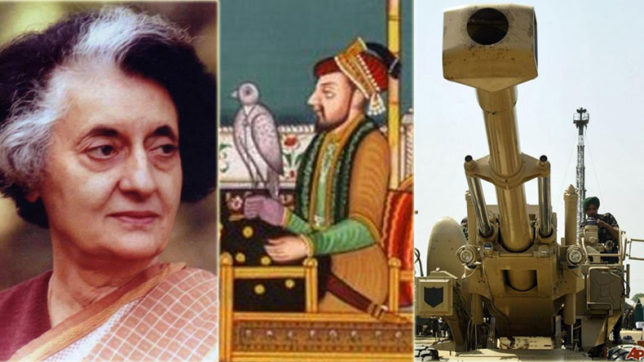 Mughal's face extinction; Bofors scam, Emergency part of history textbooks