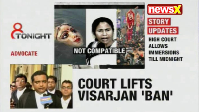 8 Tonight: Calcutta HC revokes Mamata's Durga immersion ban; & more