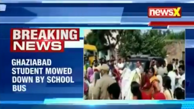 6-year-old dies after being run over by school bus in Ghaziabad; driver taken into custody