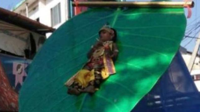 3-year-old kid tied to artificial leaf on vehicle for more than 2 hours