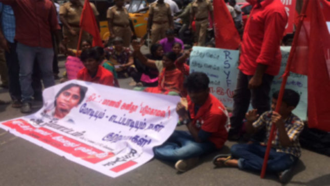 Protests in Tamil Nadu over Anitha's suicide