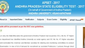APSET 2017 results announced @ apset.net.in